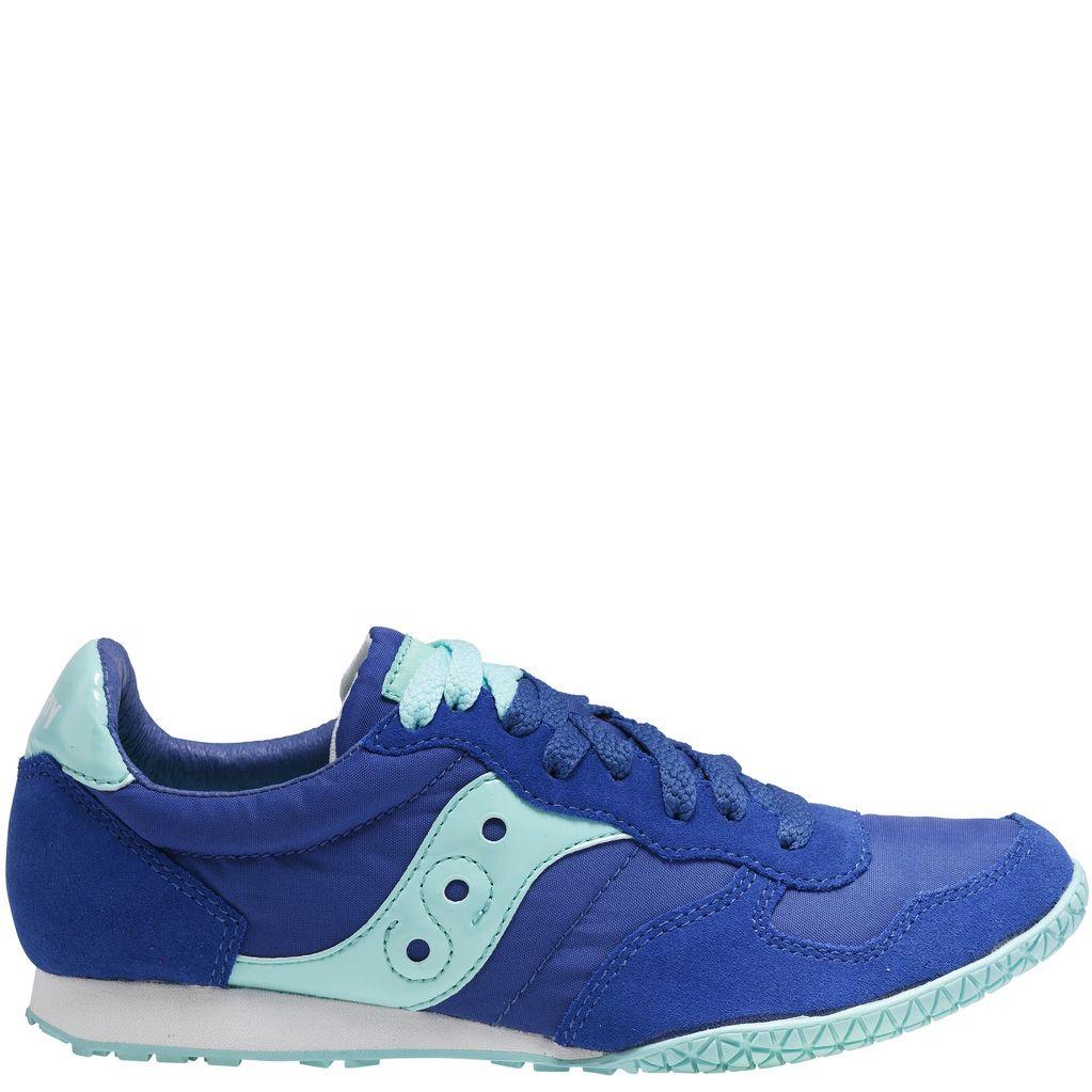 Женские кроссовки Saucony Bullet темно-синие с ярко-голубыми вставками