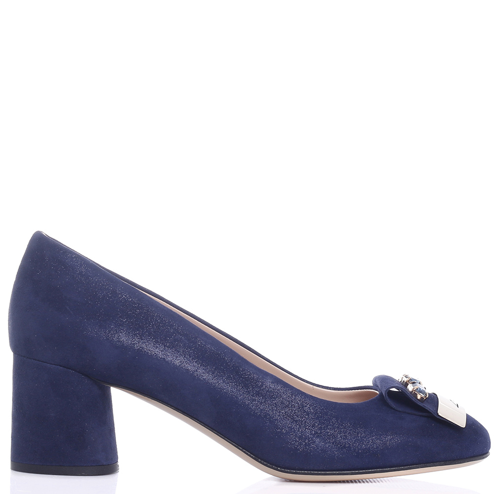 Синие туфли Musella с декором-камнями
