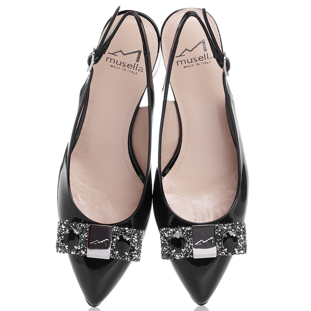 Лаковые туфли-слингбеки Musella с острым носком
