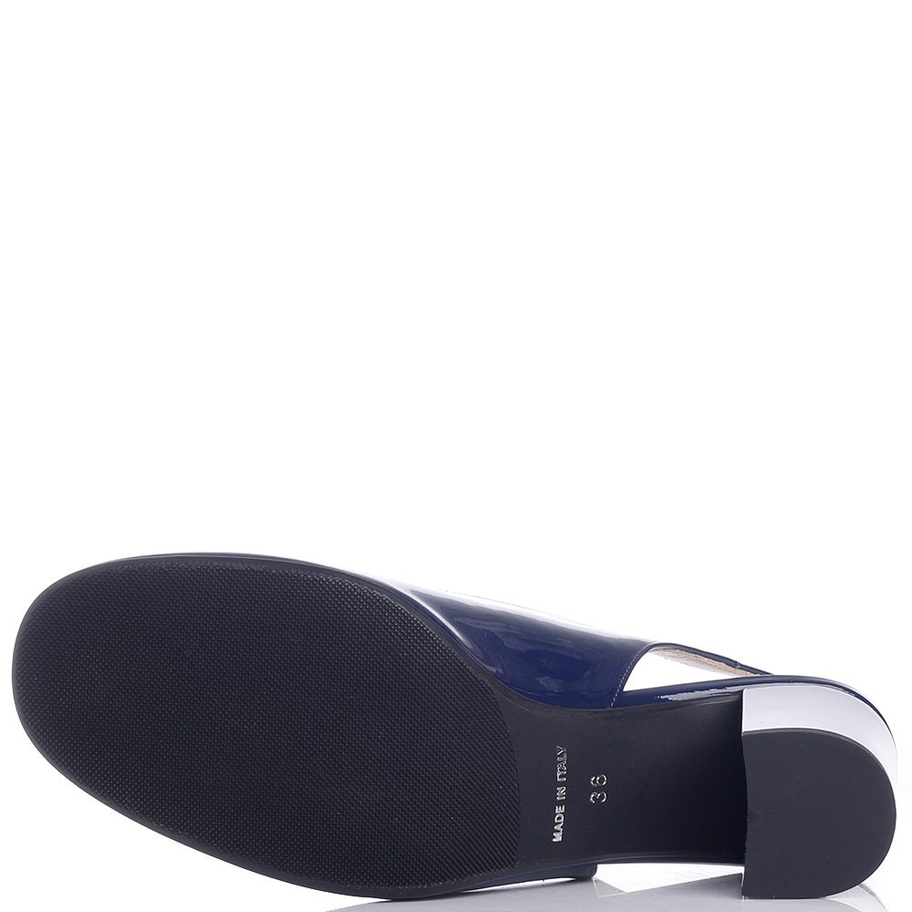 Темно-синие туфли Musella с декором на носке