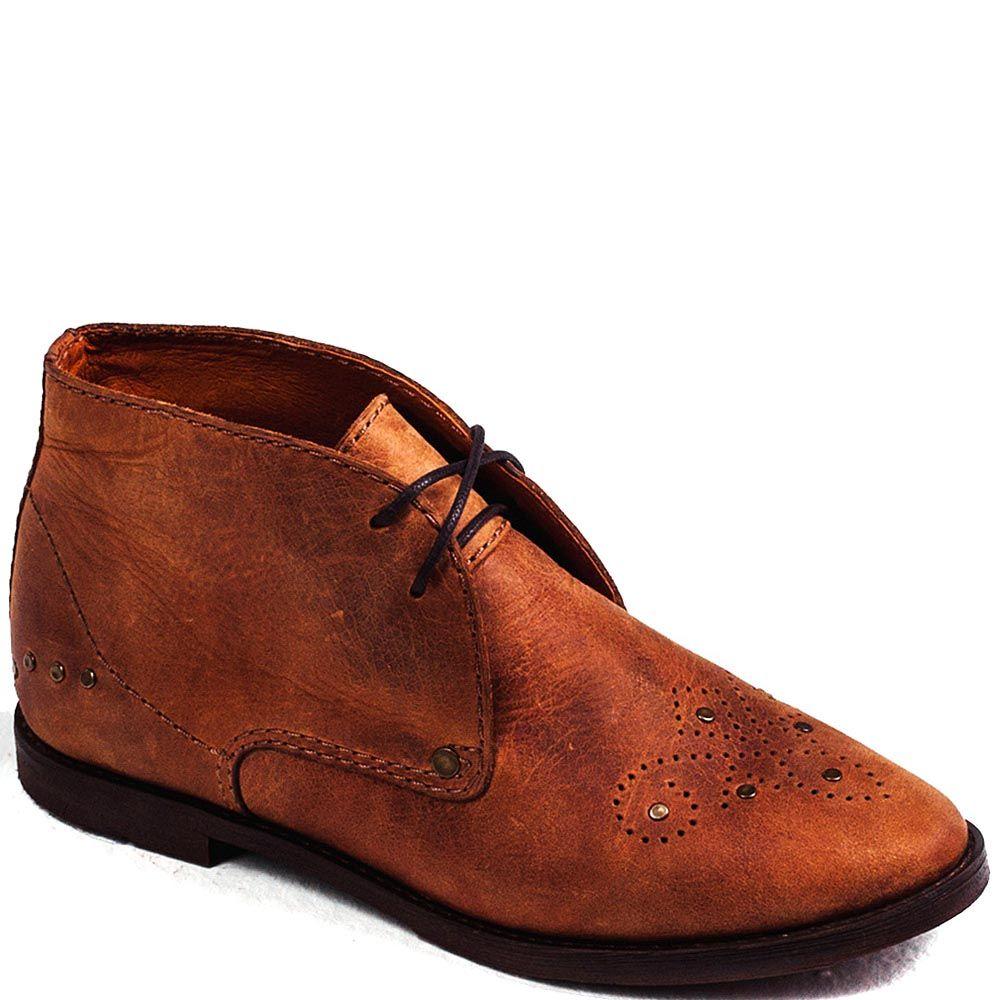 Демисезонные ботинки Modus Vivendi из кожи рыжего цвета на шнуровке