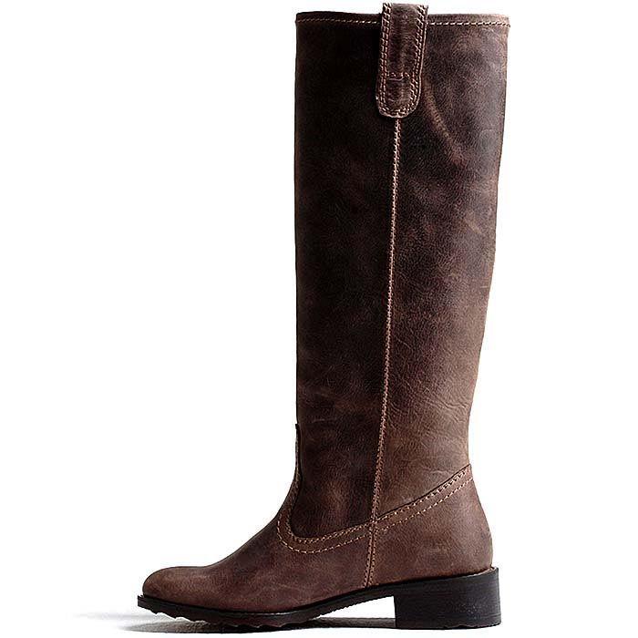 Женские сапоги Modus Vivendi кожаные кофейного цвета