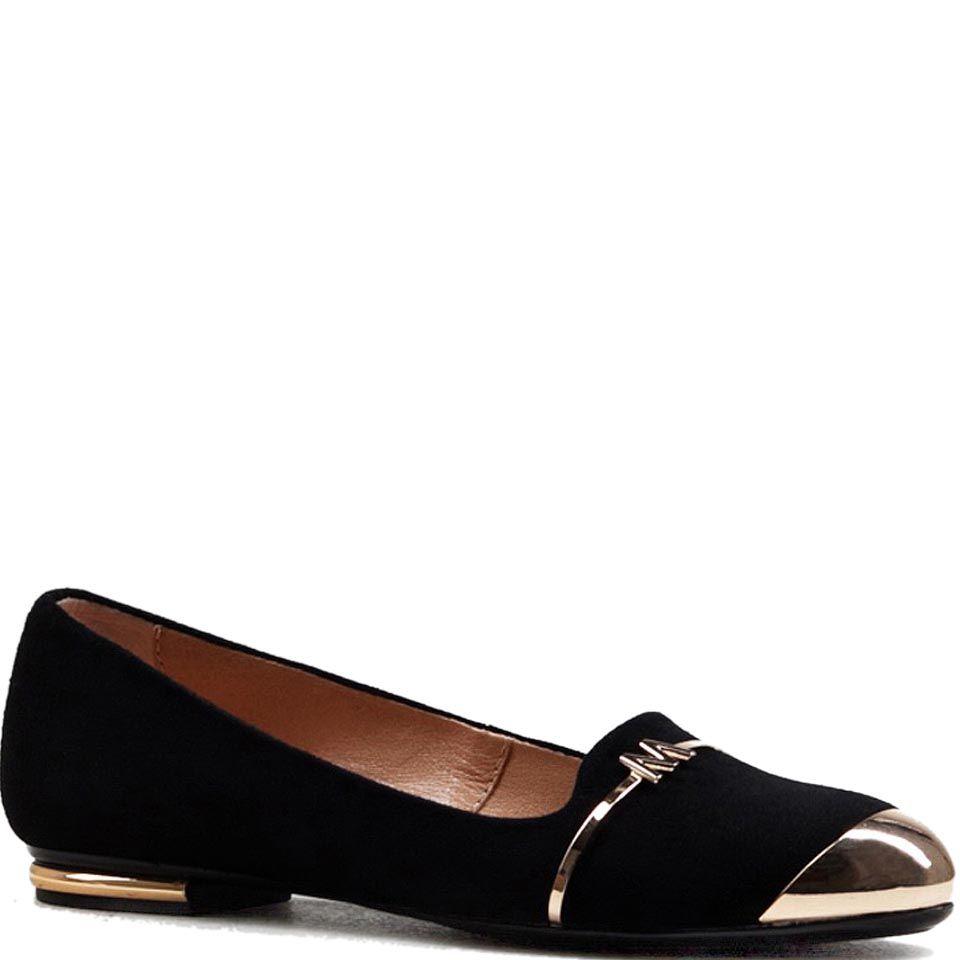Женские туфли Modus Vivendi из замши черного цвета с металлическим носком