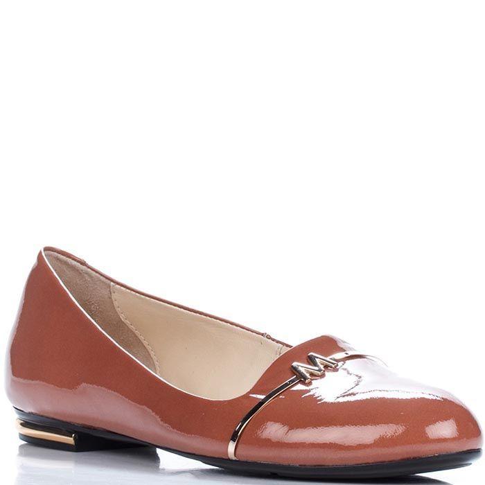 Женские туфли Modus Vivendi из натуральной лаковой кожи коричневого цвета