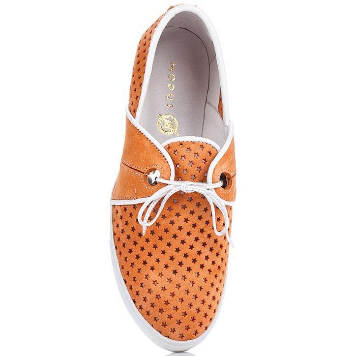 Женские кеды Modus Vivendi оранжевого цвета с перфорацией