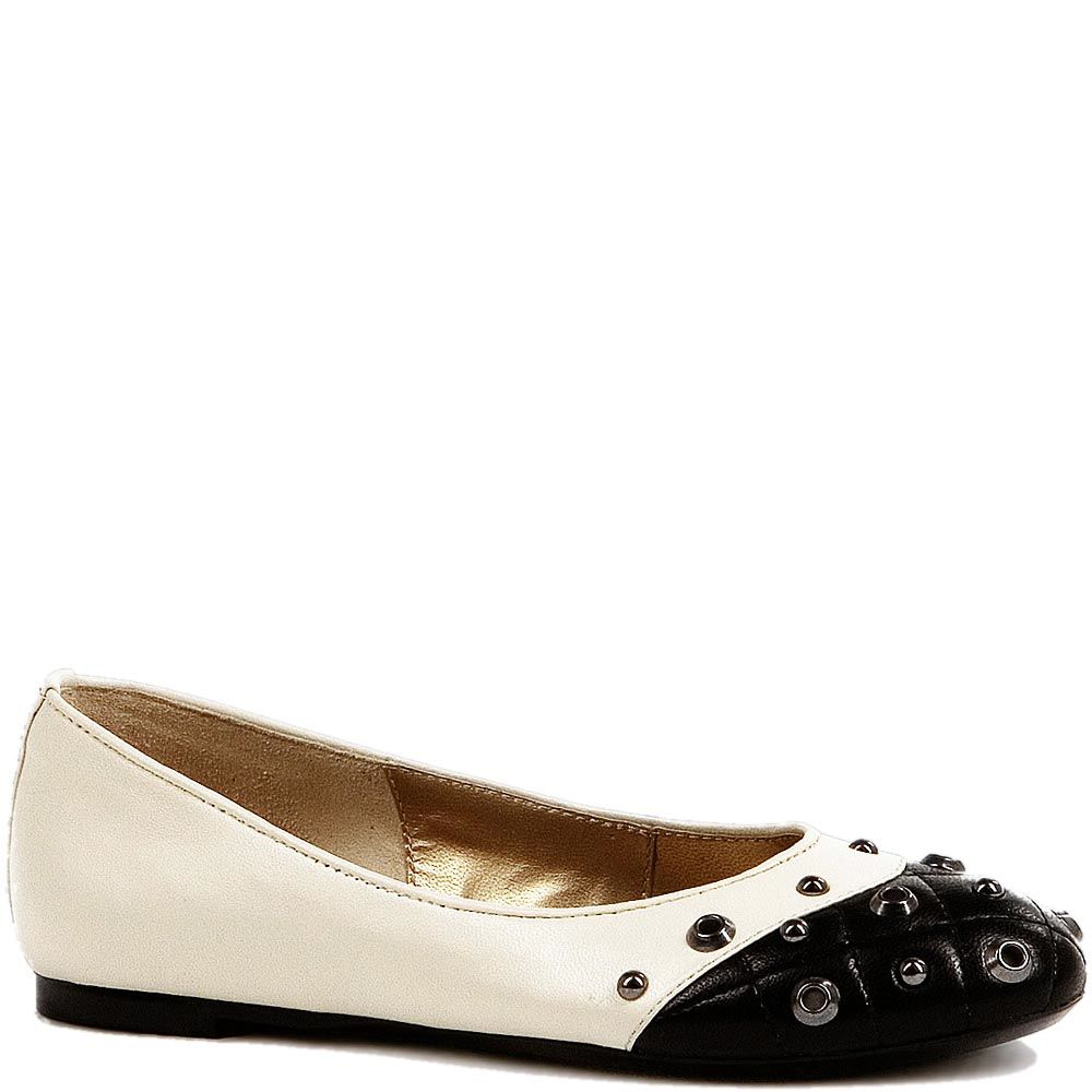 Черно-белые туфли Modus Vivendi с люверсами на стеганном носке