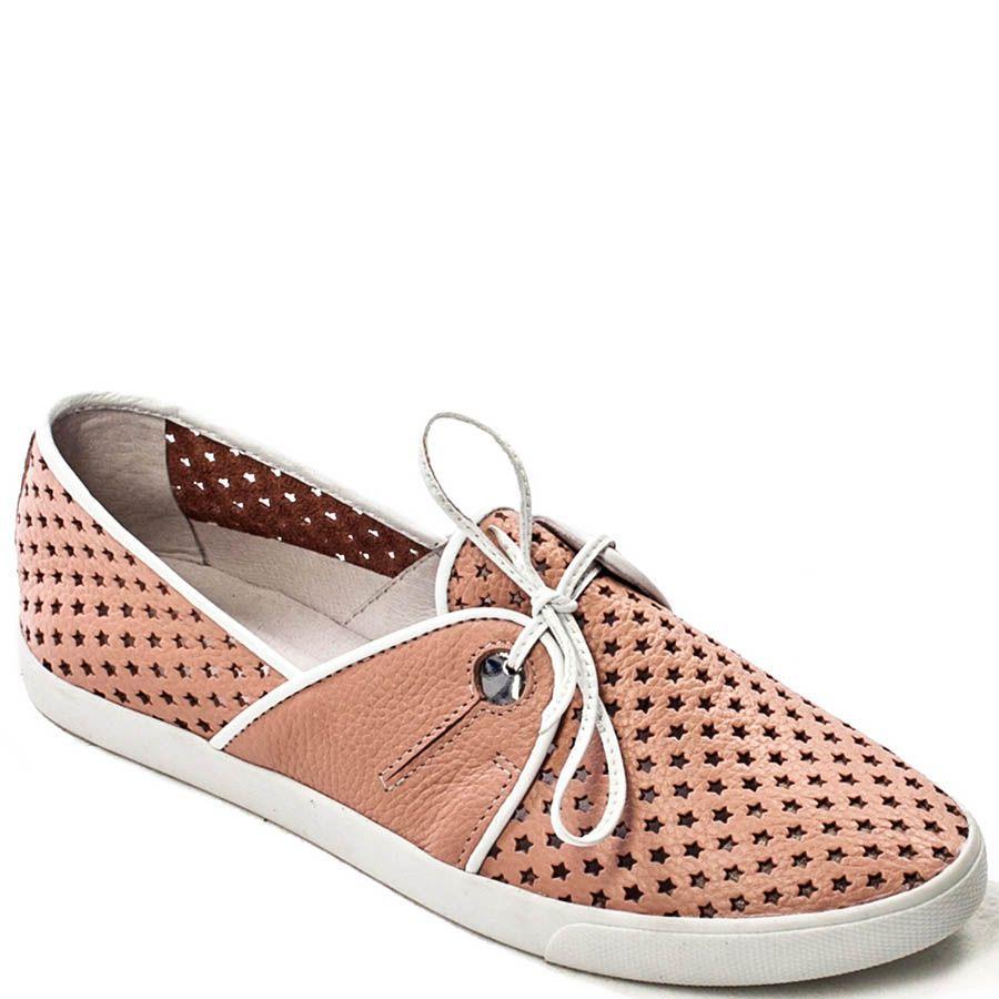 Спортивные туфли Modus Vivendi нежно-розового цвета с перфорацией в виде звездочек