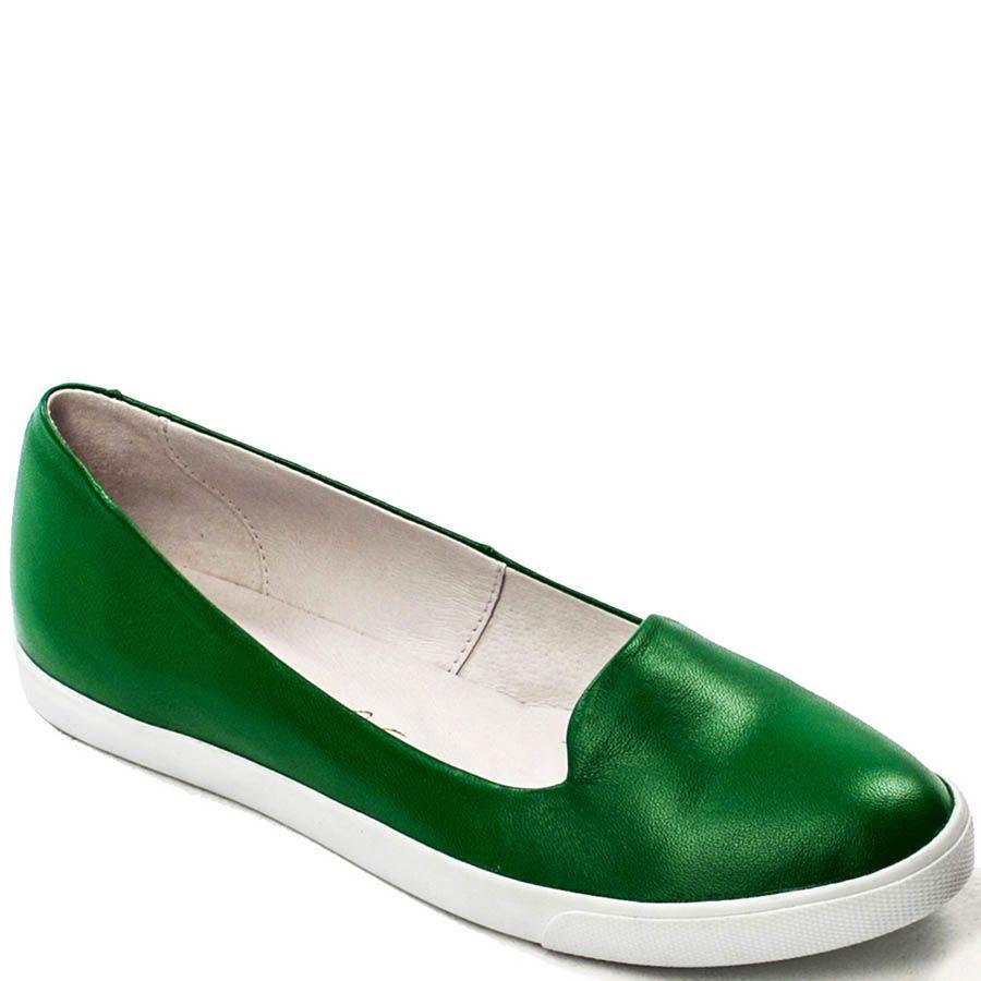Балетки Modus Vivendi зеленого цвета на толстой подошве