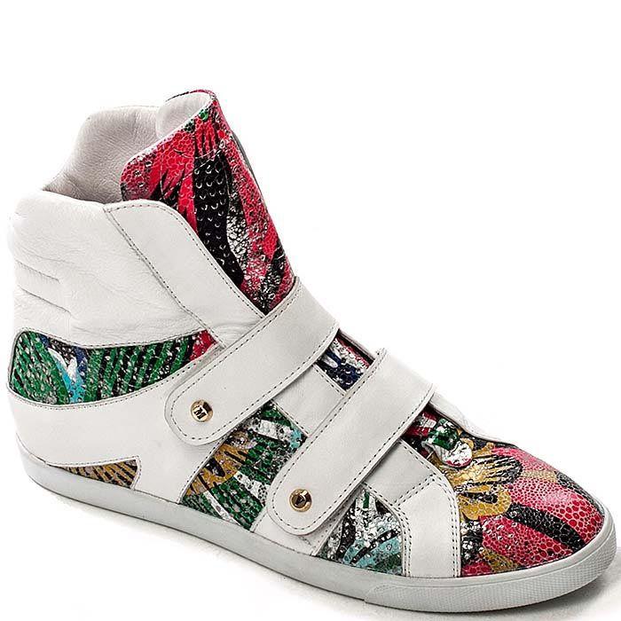Женские кроссовки Modus Vivendi белые с разноцветными вставками