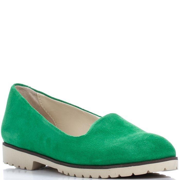Замшевые слипоны Modus Vivendi ярко-зеленого цвета