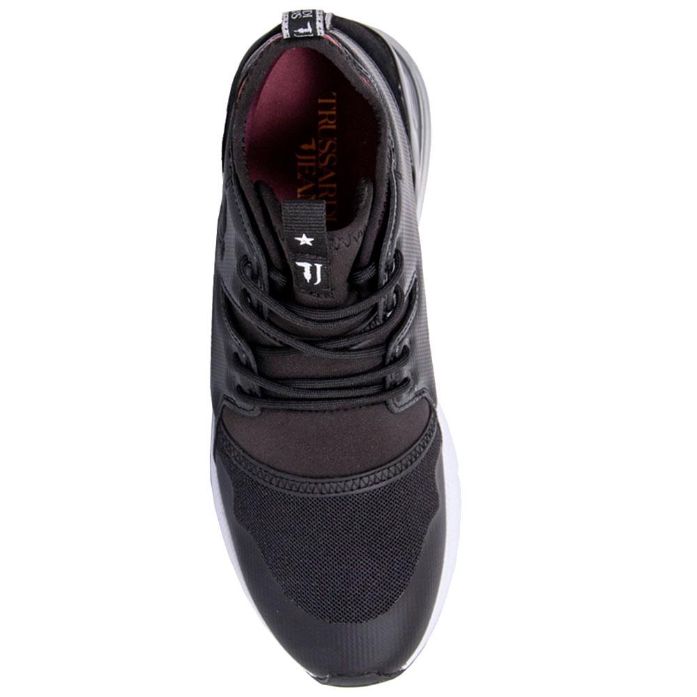 Высокие кроссовки Trussardi Jeans черного цвета