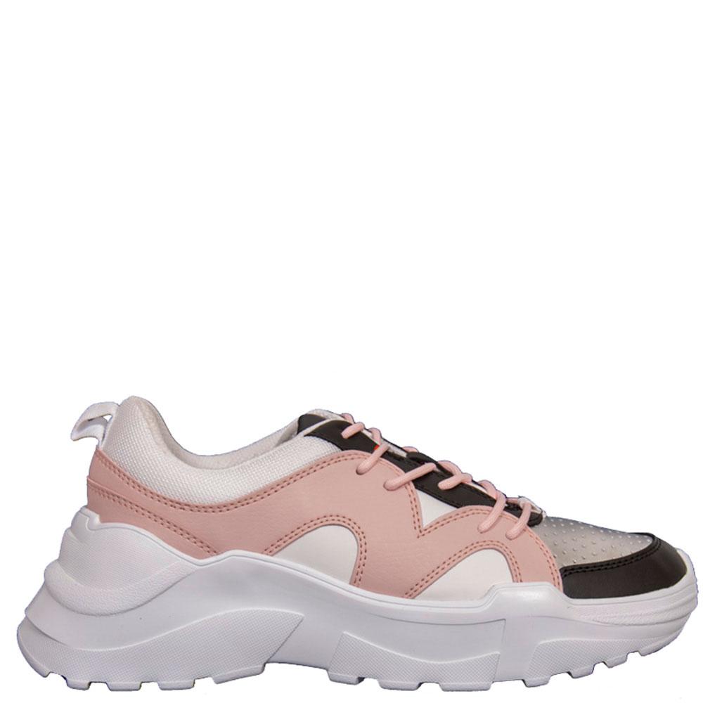 Розовые кроссовки Trussardi Jeans на толстой подошве