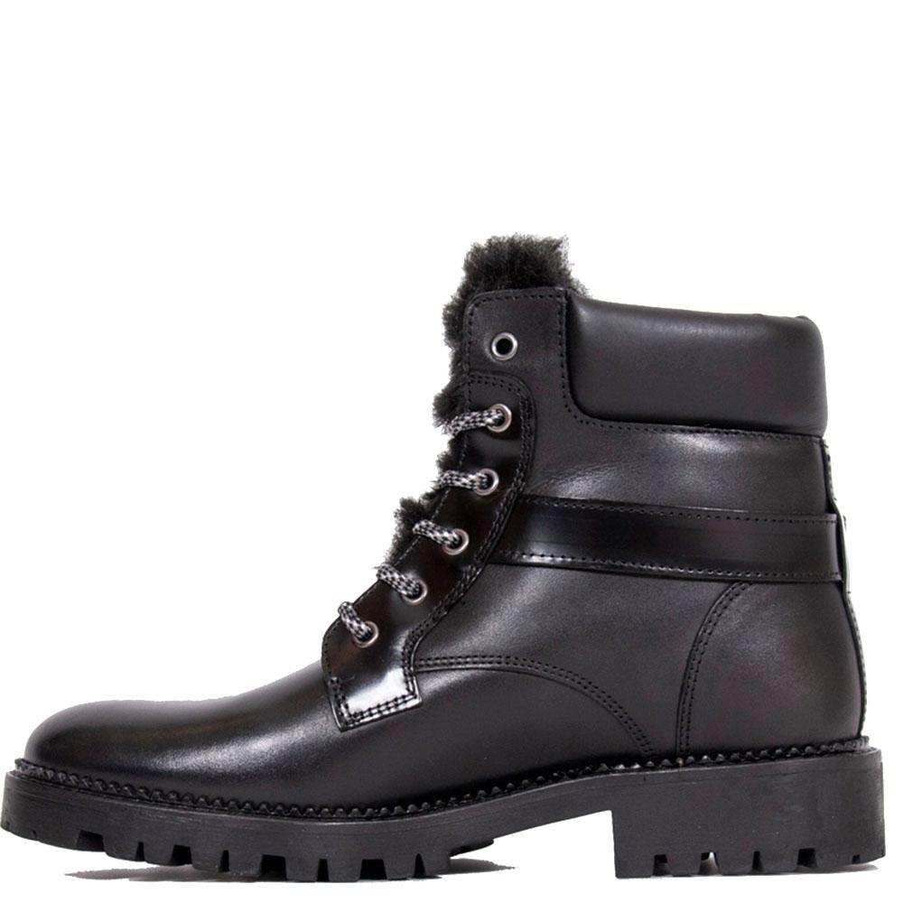 Черные ботинки Trussardi Jeans с декором-ремешком