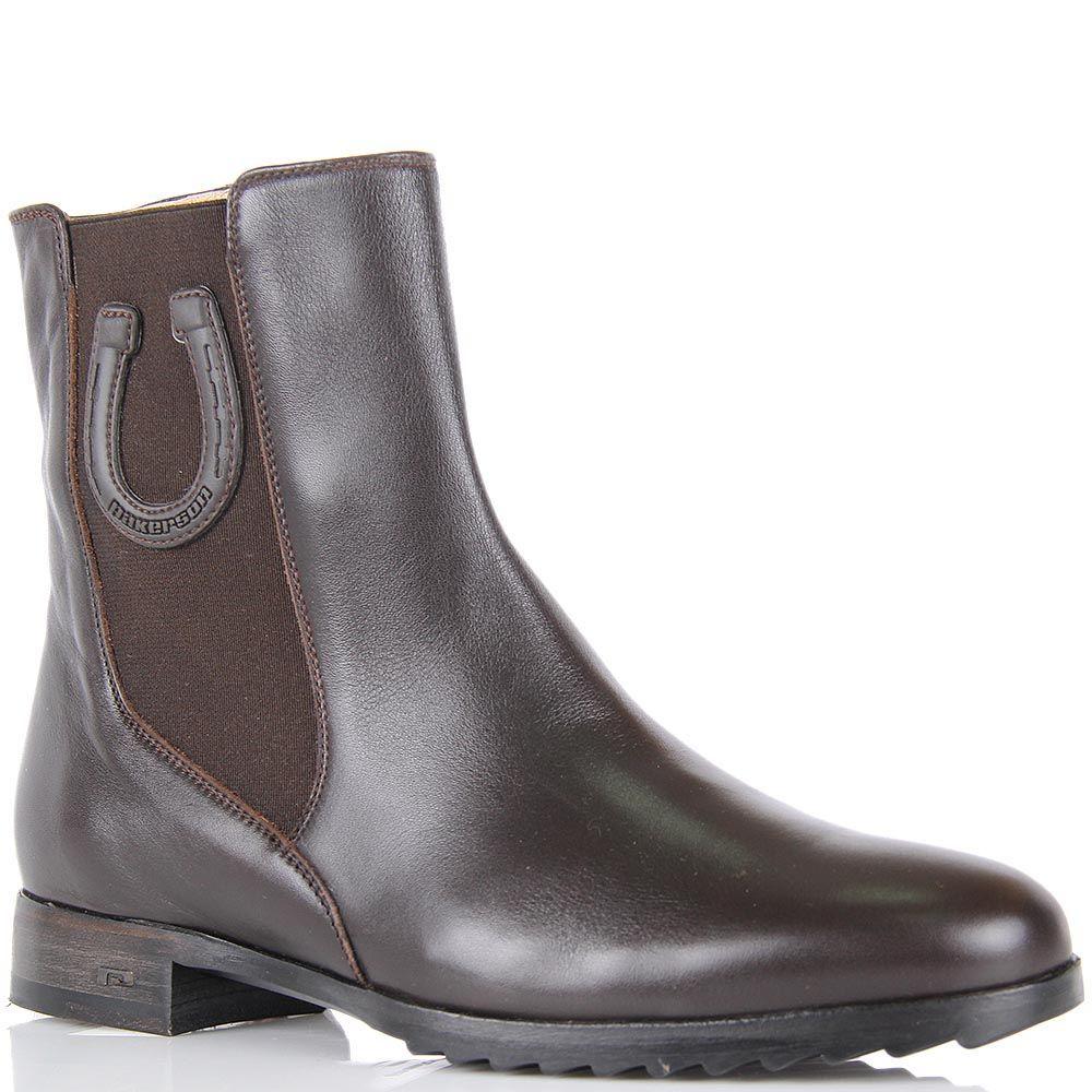 Женские ботинки Pakerson из натуральной кожи темно-коричневого цвета
