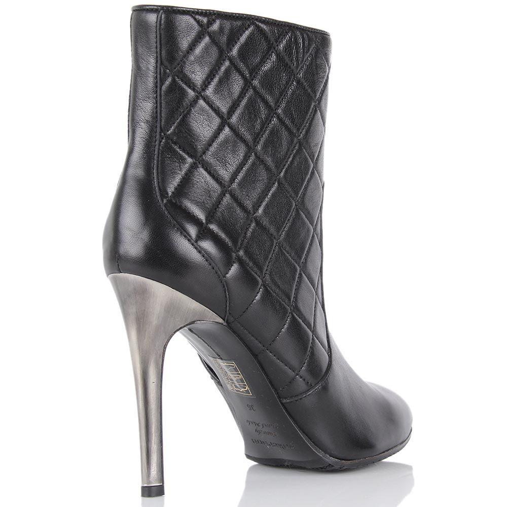Стеганные демисезонные ботинки Pakerson на высоком каблуке-шпильке