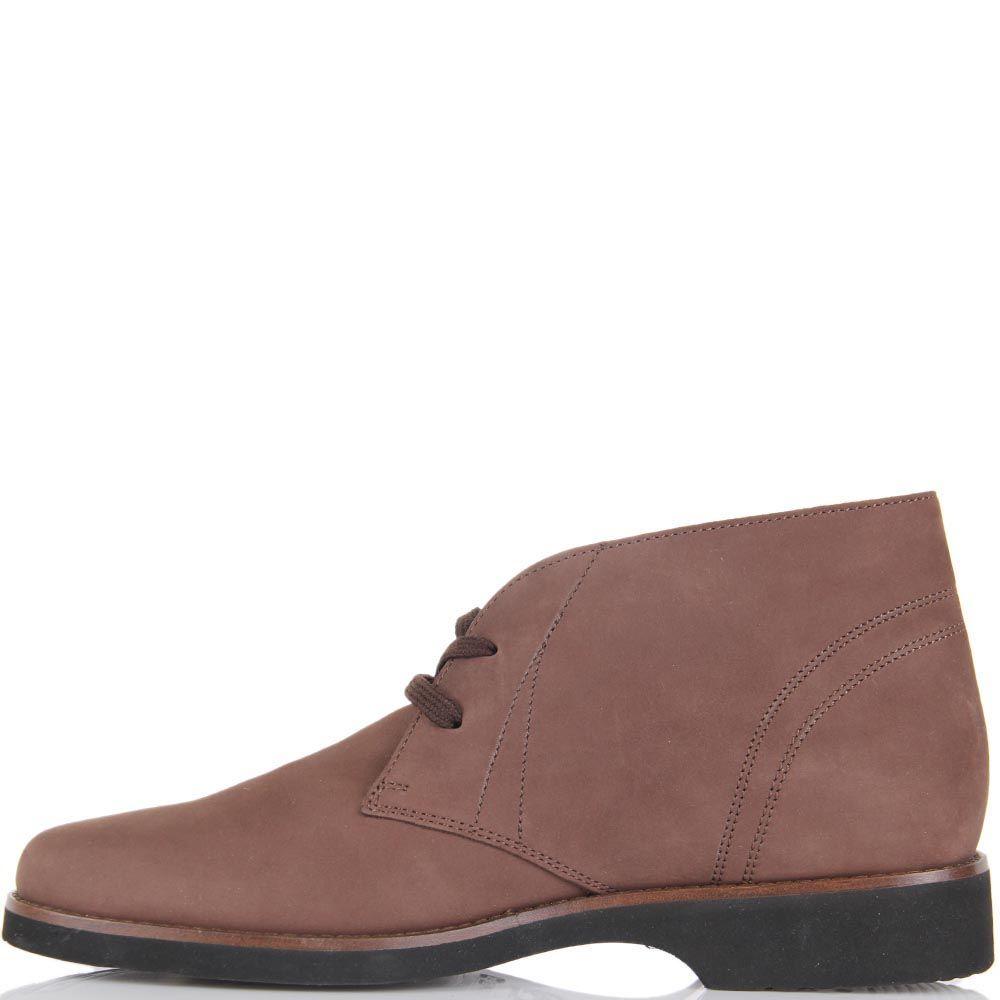 Женские ботинки-дезерты Pakerson из нубука коричневого цвета