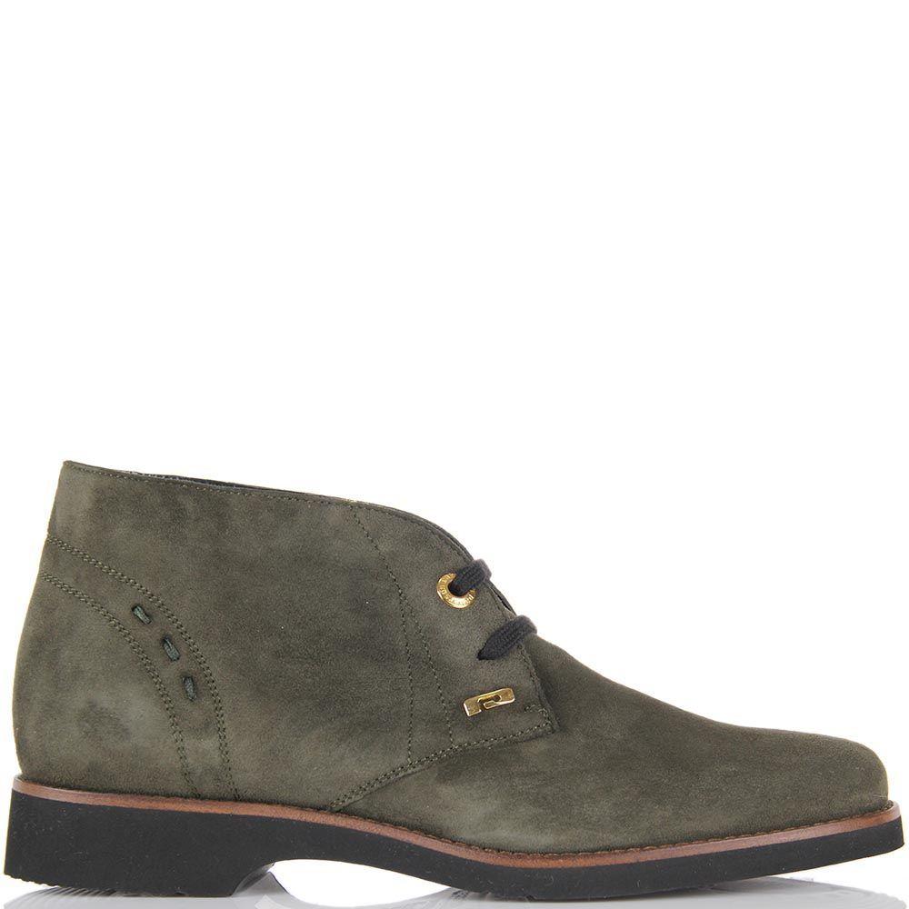 Женские ботинки-дезерты Pakerson замшевые оливкового цвета