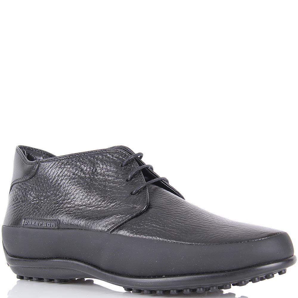 Женские туфли Pakerson в спортивном стиле из натуральной кожи черного цвета