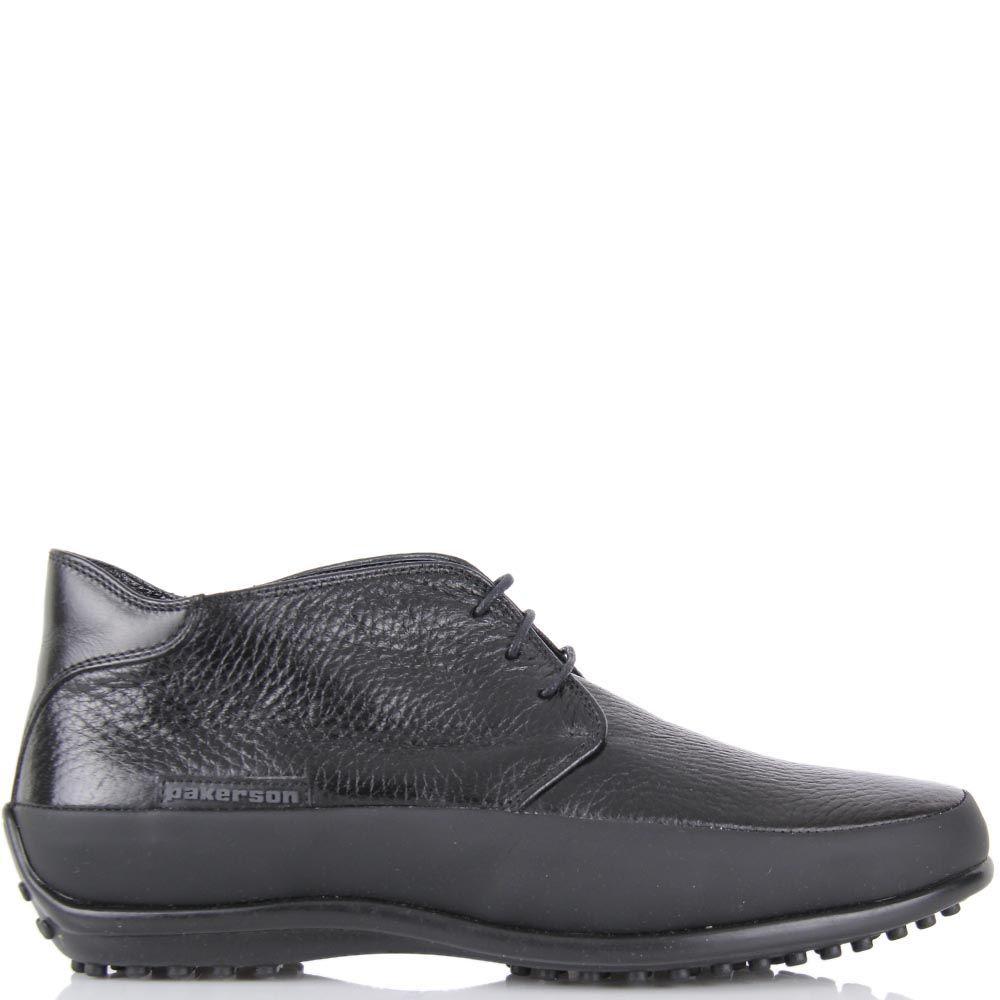 Женские туфли Pakerson в спортивном стиле из кожи черного цвета