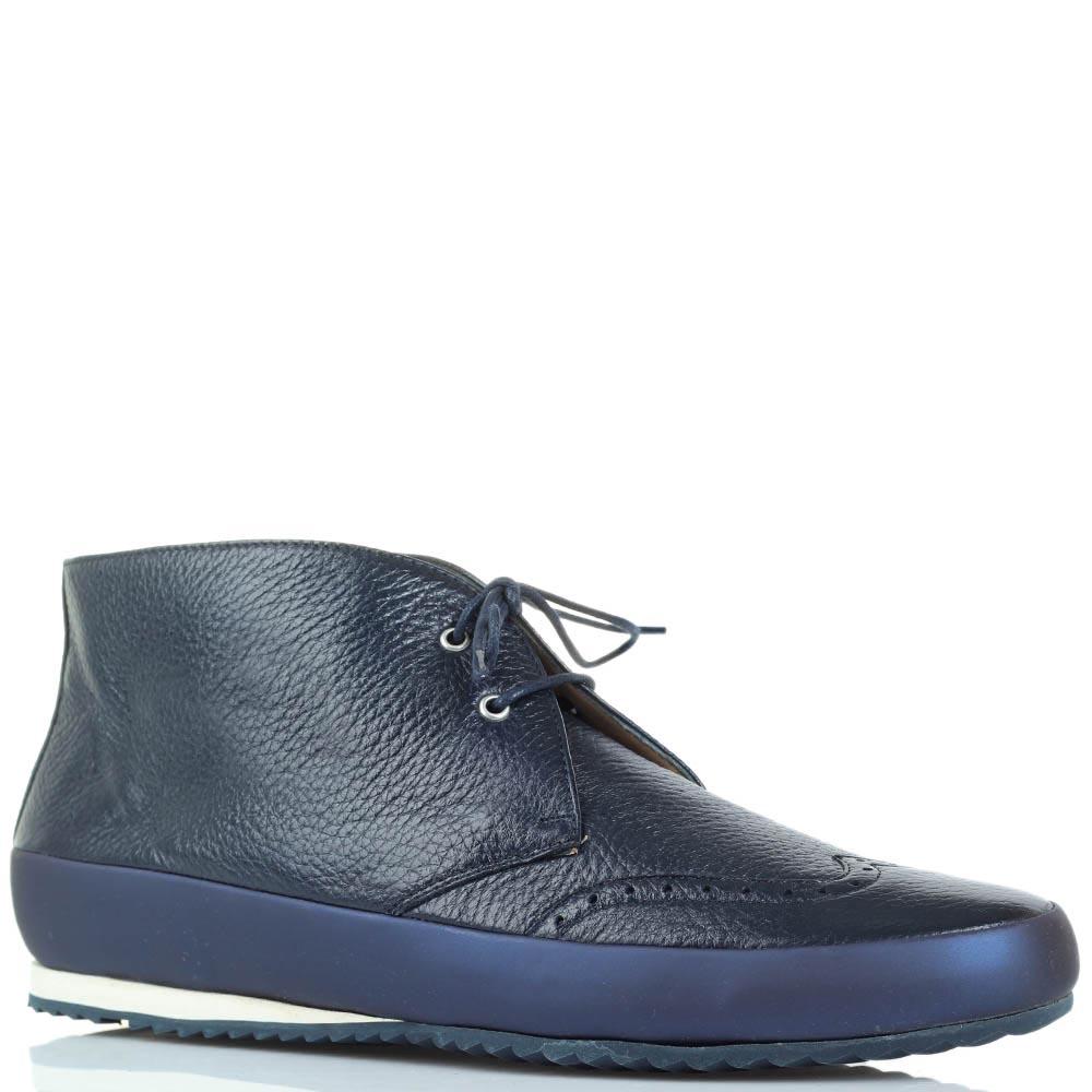 Женские ботинки-дезерты с перфорацией Pakerson синего цвета