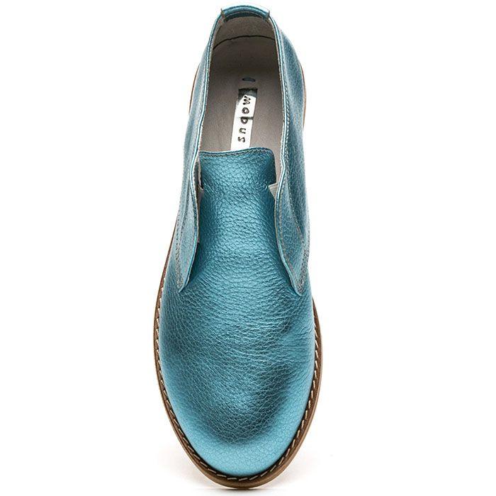 Женские туфли Modus Vivendi голубого цвета с перламутровым блеском
