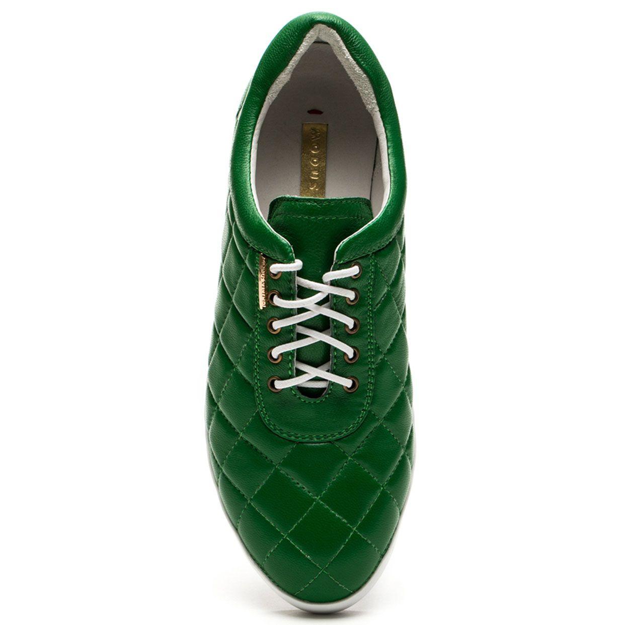 Кроссовки Modus Vivendi стеганные зеленого цвета