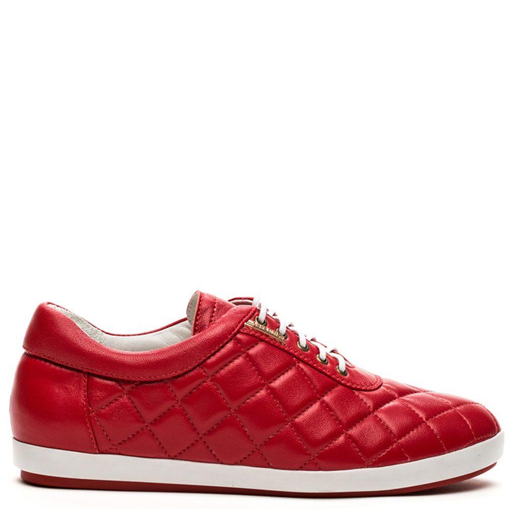 Женские кроссовки Modus Vivendi стеганные красного цвета