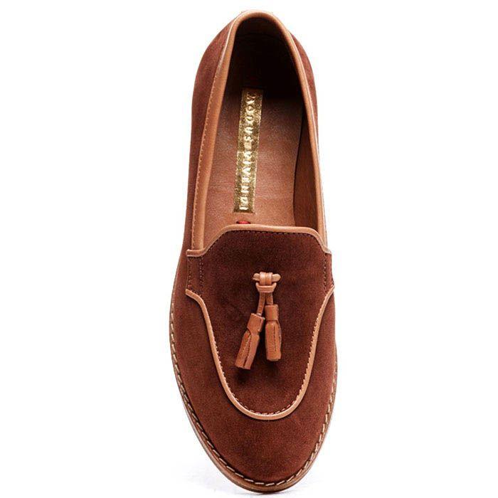 Замшевые лоферы коричневого цвета Modus Vivendi с кисточками