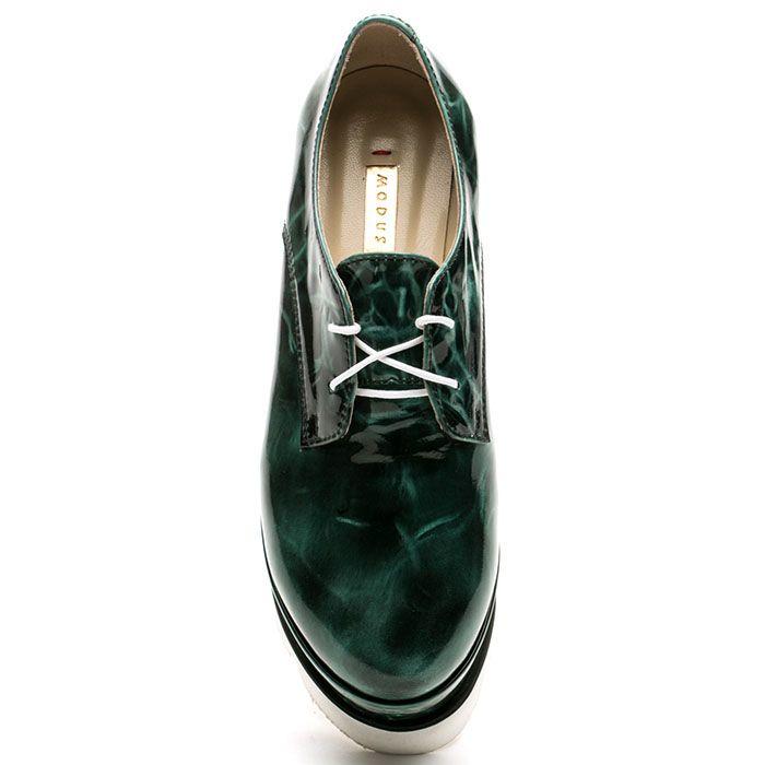 Кожаные слипоны Modus Vivendi зеленого цвета с мраморным принтом
