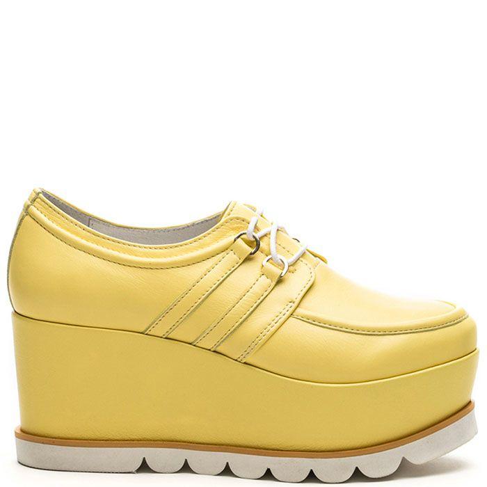 Женские слипоны Modus Vivendi желтого цвета