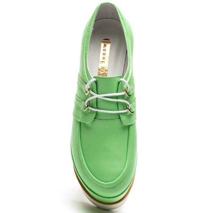 Женские слипоны Modus Vivendi нежно-зеленого цвета