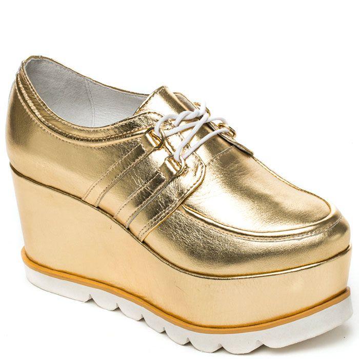 Женские слипоны Modus Vivendi золотого цвета