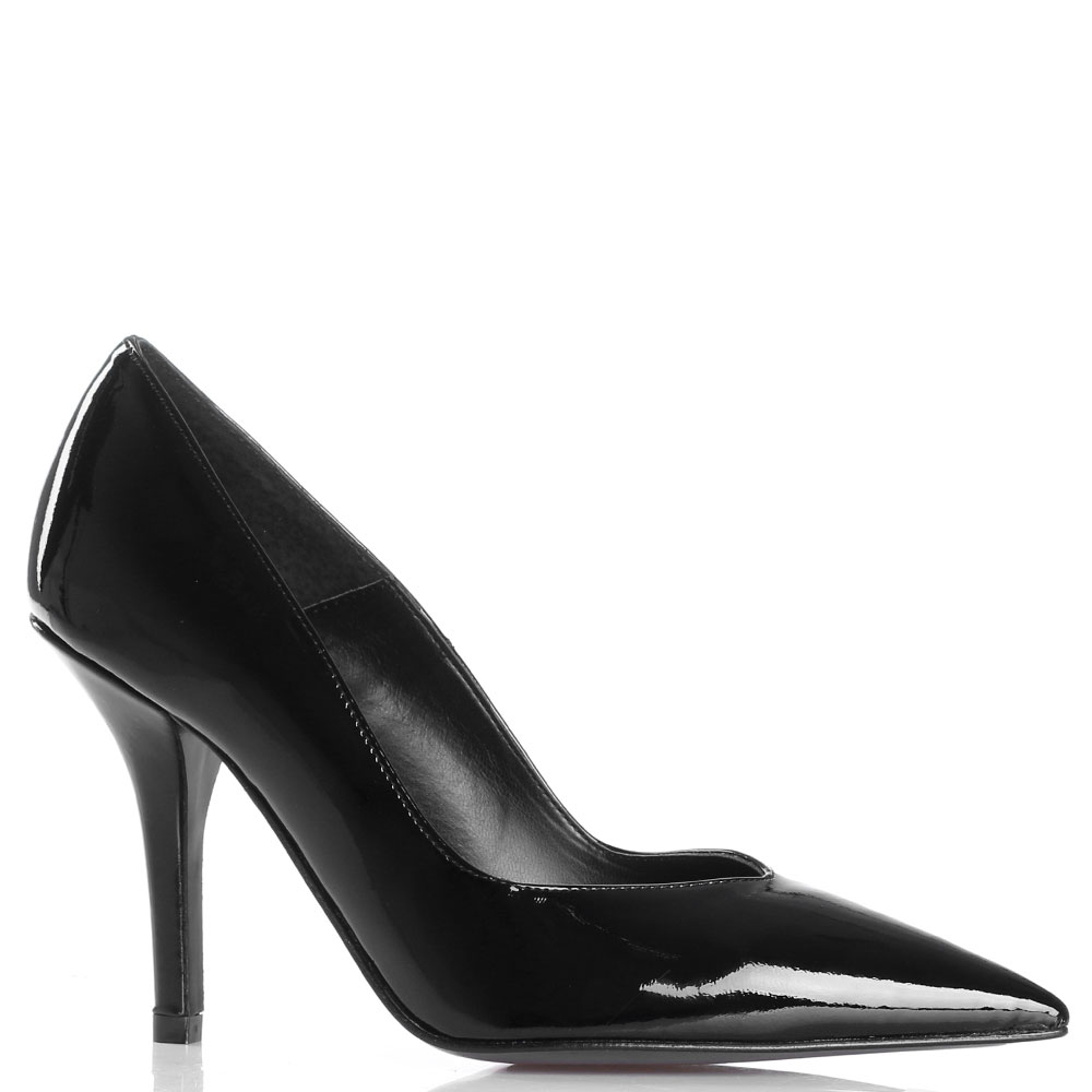 Черные лаковые лодочки Bianca Di на каблуке-рюмочке