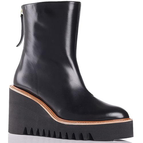 Ботинки Paloma Barcelo Brisa из кожи черного цвета