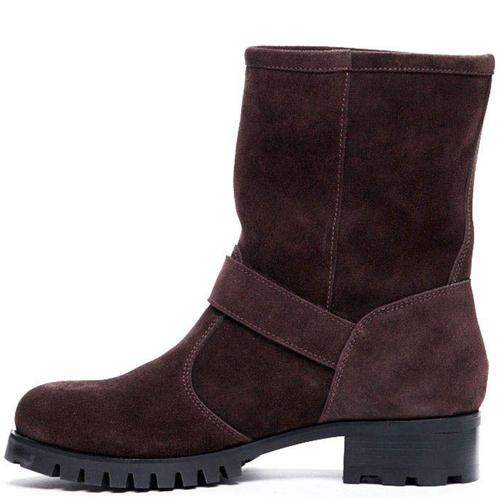 Замшевые ботинки коричневого цвета Modus Vivendi украшенные вышитым логотипом