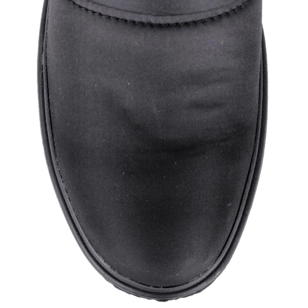 Сапоги-дутики Bressan черного цвета с меховой вставкой по краю