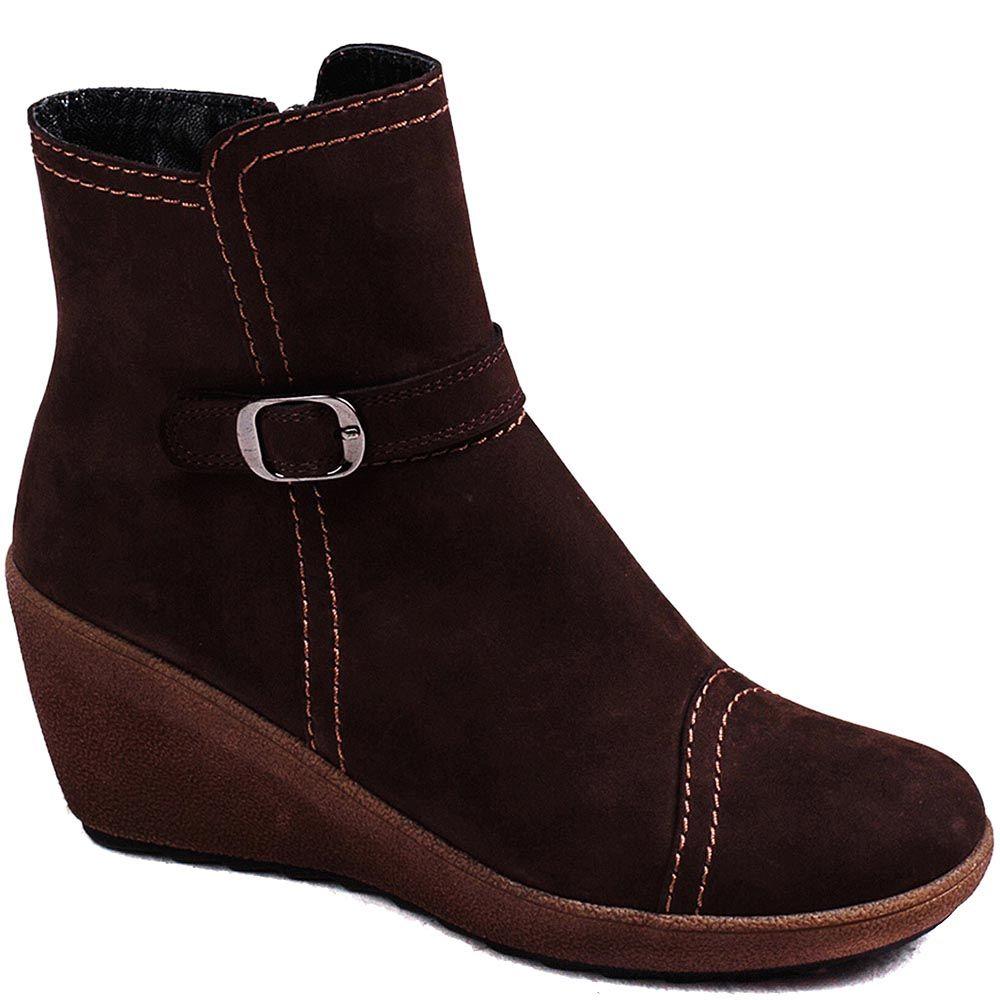 Замшевые демисезонные ботинки Modus Vivendi из натуральной замши коричневого цвета