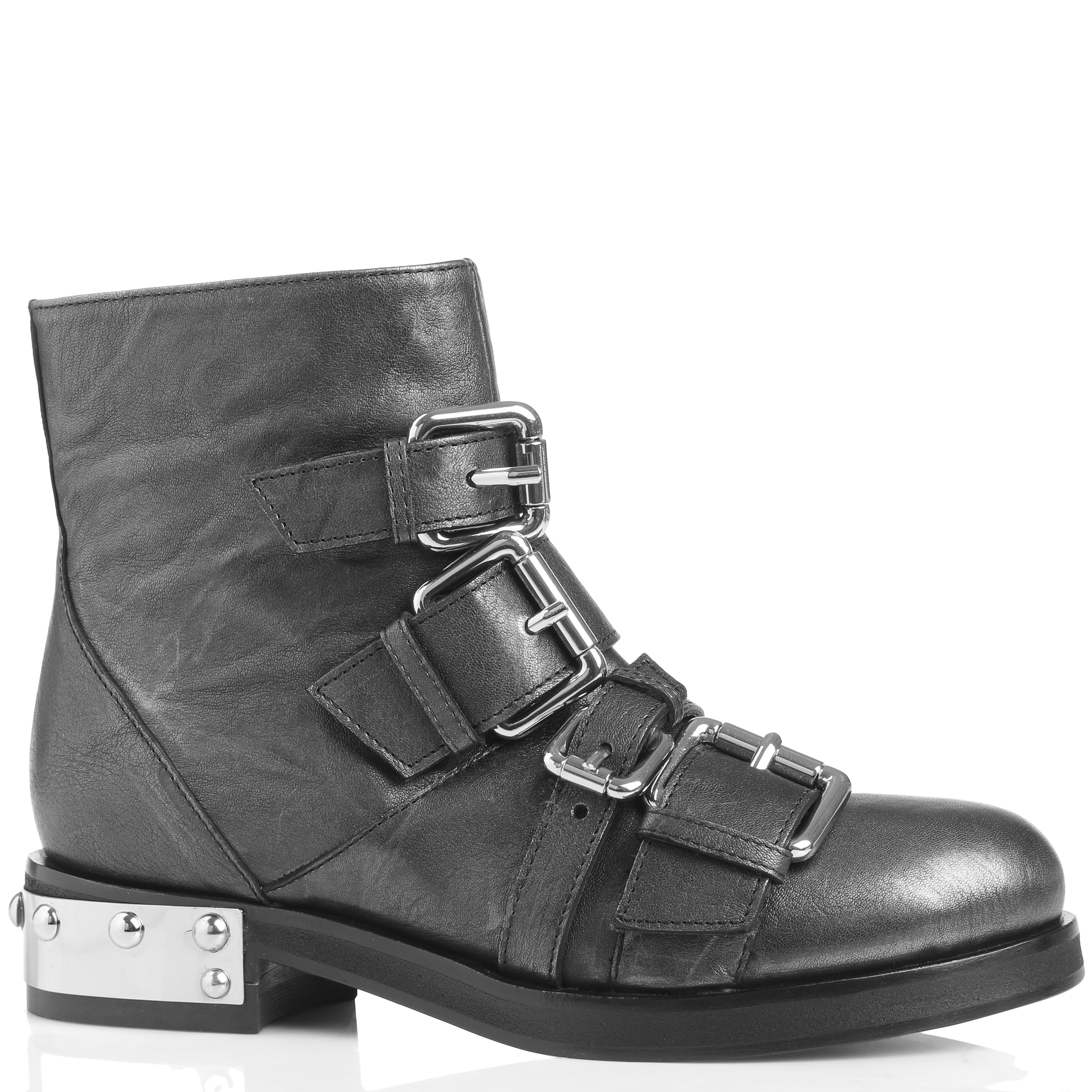 Темно-серые ботинки Giancarlo Paoli с декором-пряжками