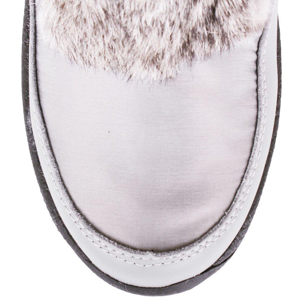Сапоги-дутики Bogner серебристого цвета с мехом