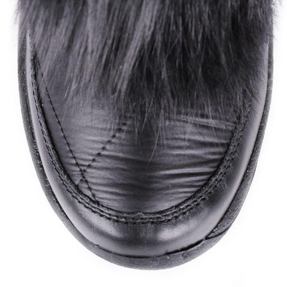 Сапоги-дутики Bogner черного цвета с мехом