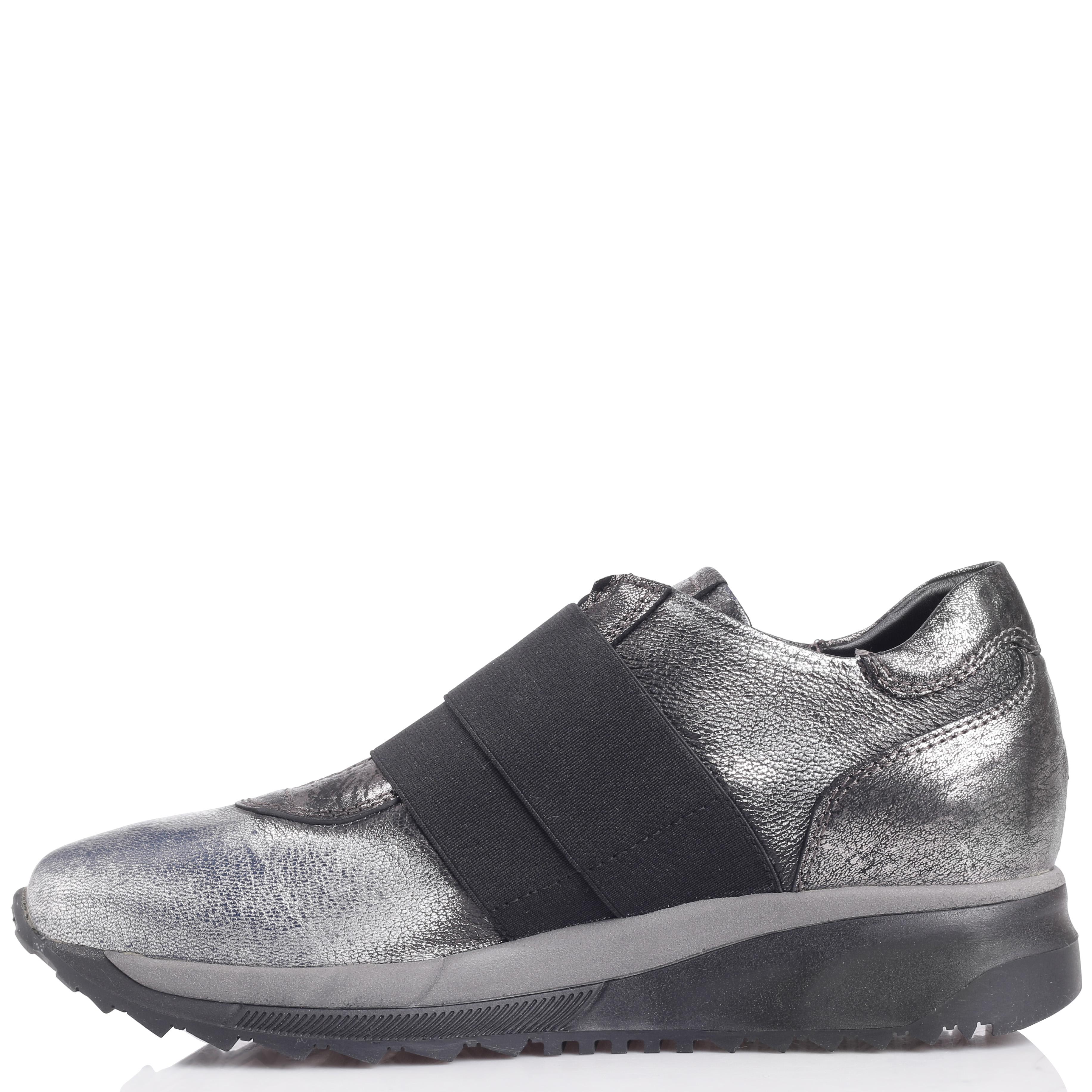 Серебристые кроссовки Laura Bellariva без шнуровки