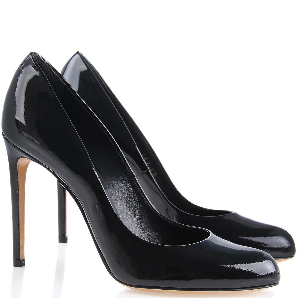 Туфли-лодочки Casadei лаковые черного цвета