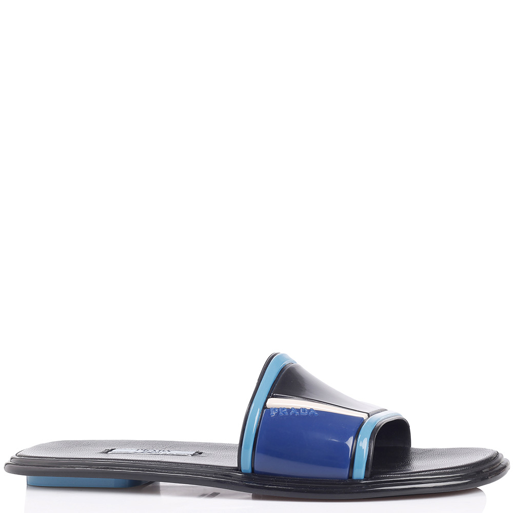 Летние шлепанцы Prada с цветными деталями