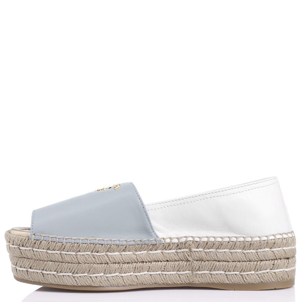 Женские эспадрильи Prada с открытым носком