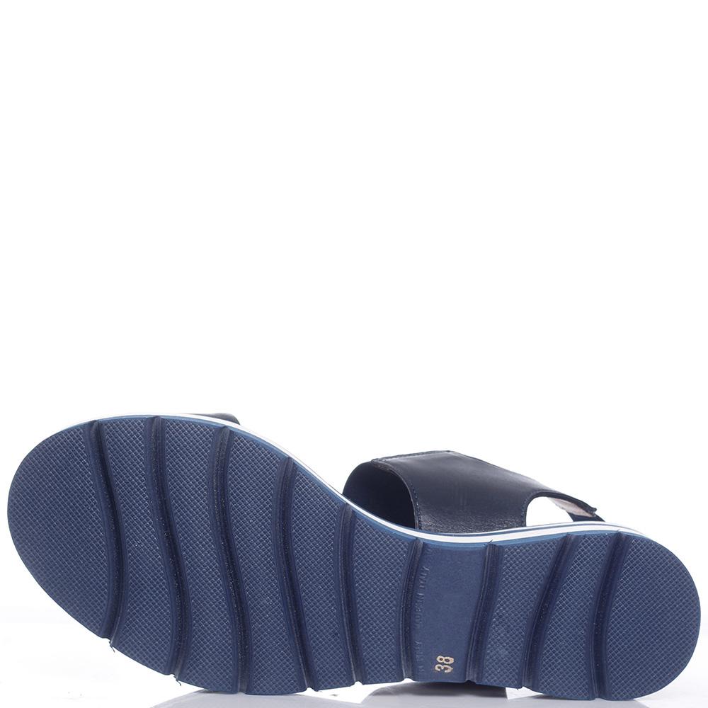 Синие сандалии Luca Grossi на резинке