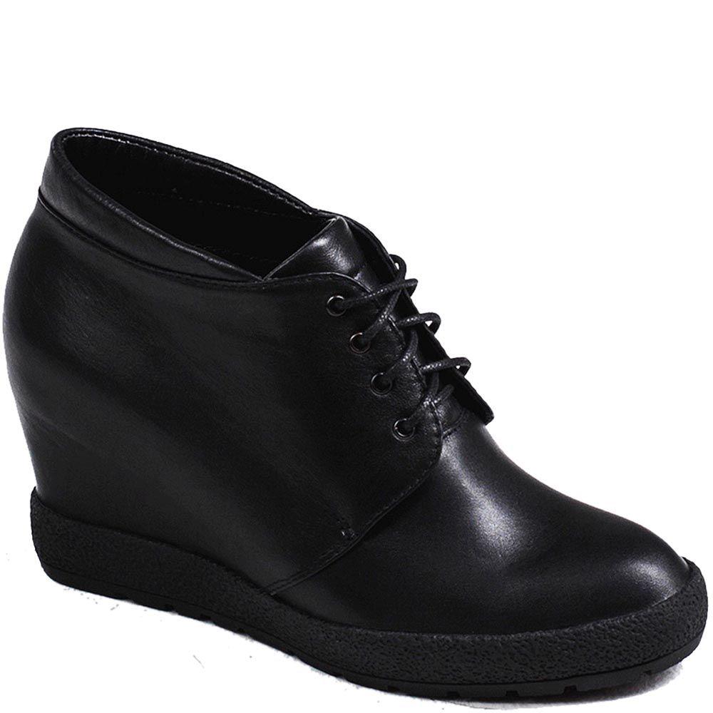 Женские ботинки Modus Vivendi из натуральной кожи на скрытой платформе на шнуровке