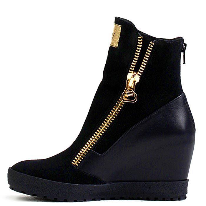 Женские ботинки Modus Vivendi черного цвета с молнией