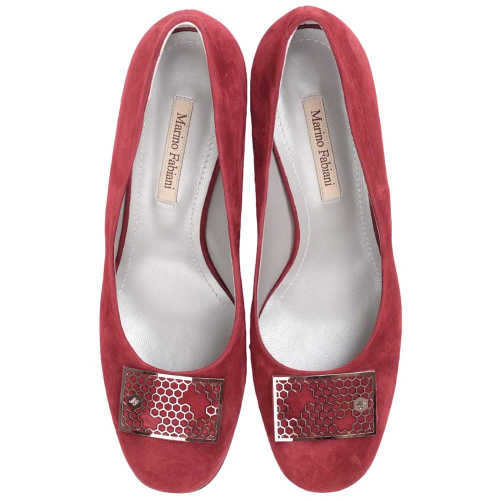 Бордовые туфли Marino Fabiani с декором на носке