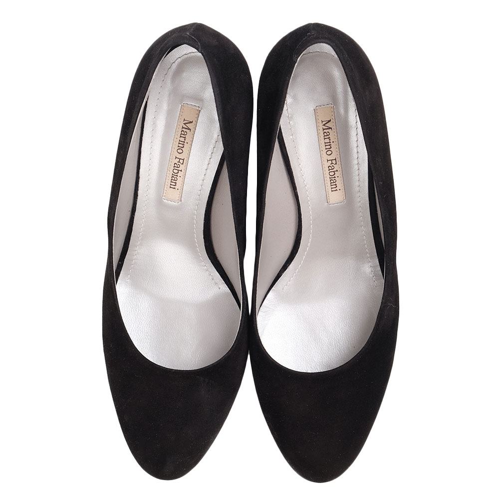 Замшевые туфли  Marino Fabiani с декором на каблуке