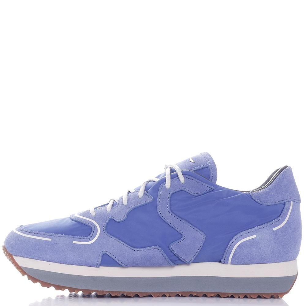 Женские кроссовки Alberto Guardiani синего цвета